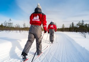 Cross country skiing excursion in Rovaniemi Lapland