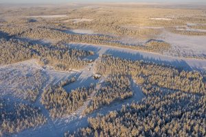 Piiru Forest resort of Christmas House Safaris by air, in Rovaniemi Finland