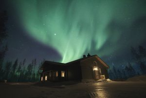 Northern Lights at our Piiru Forest Resort in Rovaniemi