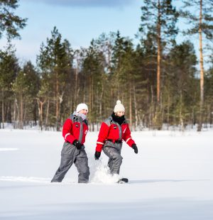 Snowshoeing excursion in Rovaniemi, Lapland